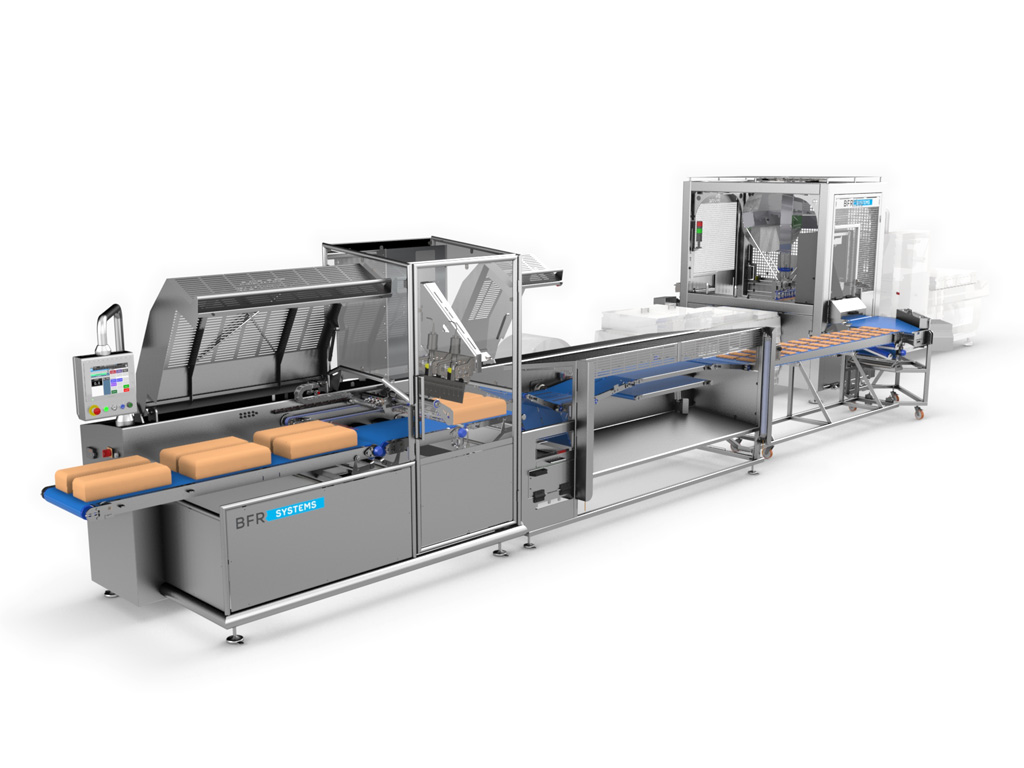 food & dairy/CUTTING AND PACKING LINE