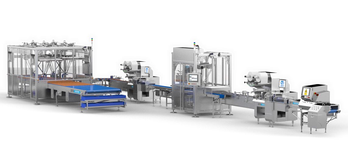 food & dairy/Automatic pan cakes packaging line